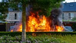 De auto van Daisy ging in vlammen op
