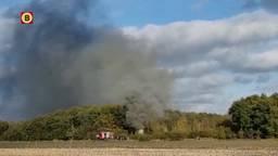 Reddingsboot door brand verwoest in bossen bij Neerkant