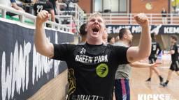 Ontlading bij Pepijn Michielsen na het winnen van de landstitel (foto: Kicksfotos.nl)