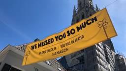 Horeca klaar voor Bredase klanten, maar Belgen nog even liever niet (foto Ronald Sträter).