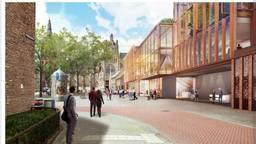 De schetsen van het nieuwe Theater aan de Parade (beeld: gemeente Den Bosch).
