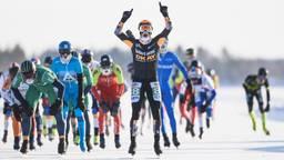 Crispijn Ariëns won in 2018 in het Zweedse Lulea bij een temperatuur van min 20