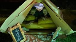 Slapen in een doorweekt tentje. (Foto: Marga van Boxtel-Van de Heuvel)