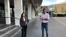 Lieke Gaminde en Niels van Stappershoef strijden tegen straatintimidatie. (Foto: Tom van den Oetelaar)