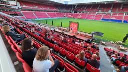 Rob Scheepers in het Philips Stadion (foto: Noël van Hooft)