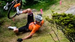 Mathieu van der Poel viel op de Olympische Spelen (foto: ANP).
