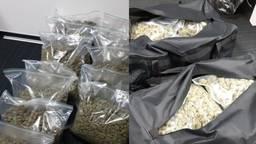 De sporttassen met hennep (foto: politie).