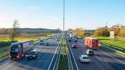De A58 als de weg niet is afgesloten (archieffoto: Gijs Franken).