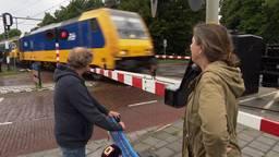 Buurtbewoners worden gek van de trillingen van goederentreinen over de Brabantroute (foto: Leon Hagedoorn).