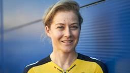 Amber Kraak uit Oss was toproeister en is nu profwielrenster