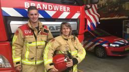 Joep van Brussel en Rian Matheij streden wekenlang tegen het vuur op De Peel. (Foto: Alice van der Plas)