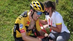 Steven Kruijswijk gevallen in de Dauphiné.