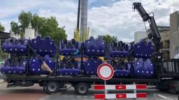 De Tilburgse kermis in aanbouw (Foto: Agnes van der Straaten)