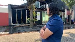 Het kantoor van Tarik Essaidi is compleet verwoest door de brand. (foto: Eva de Schipper)