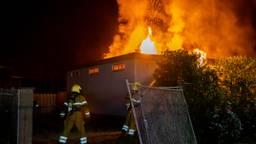Leegstaande growshop door brand verwoest in Drunen