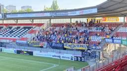 NAC-supporters in het uitvak bij Sparta