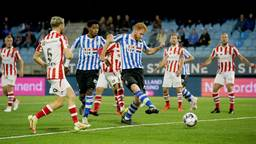 Jort van der Sande schiet FC Eindhoven op voorsprong (Foto: Orange Pictures).