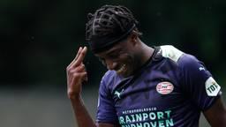Noni Madueke scoorde drie keer voor PSV (foto: ANP/Jeroen Putmans)
