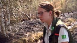Boswachter Lieke ziet haar gebied in vlammen opgaan.