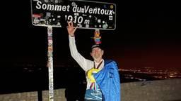 Kiske heeft het gehaald! Drie keer rennend de Mont Ventoux op (foto: Ruud van der Meijden)