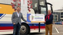 Overhandiging van de gratis sneltesten aan de voedselbank Eindhoven