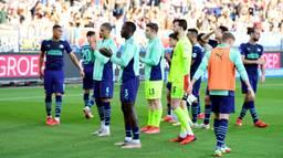 Teleurstelling bij de PSV-spelers (Foto: ANP)