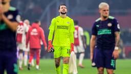 PSV-keeper Joël Drommel kreeg liefst vijf treffers te verwerken in Amsterdam (foto: ANP 2021/Olaf Kraak).