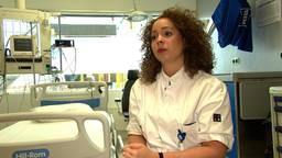 Sabine Wittens in de kamer waar 'patiënt zero' lag
