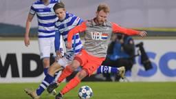 Jort van der Sande (r.) in duel met  Roland Baas (De Graafschap) Foto: Orange Pictures)
