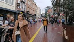 Winkelend publiek in Eindhoven afgelopen weekend.