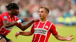 Mario Götze viet zijn goal samen met Noni Madueke (foto: ANP).