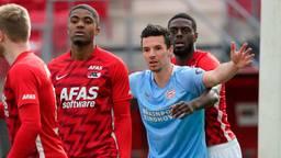 Nick Viergever tijdens AZ-PSV (foto: ANP).