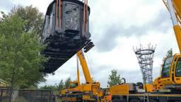 De treinwagon komt aan bij Spoorpark Tilburg (foto: Jan Peels).