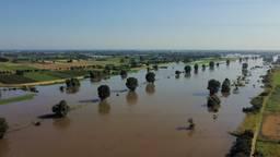 Door de overstroming van de Maas kan de kwaliteit en veiligheid van het water niet worden gecontroleerd (foto:Gideon van de Sande).