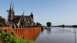 Het hoge Maaswater veroorzaakte geen grote problemen in Cuijk (Foto: SK-Media).