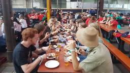 Studenten tijdens een eerdere TOP week in Tilburg (foto: Dirk verhoeven).