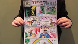 Skye uit Luyksgestel maakte een strip om mensen te waarschuwen (Foto: Skye)