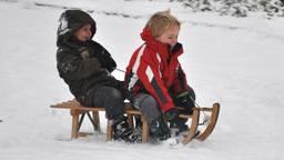 Sneeuwpret. (Foto: Ans van Ballegooy)