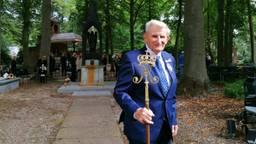 Broedermeester Jo Verbruggen tijdens zijn laatste processie.