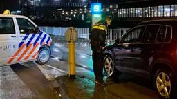 Een politiecontrole zaterdagavond (foto: Erik Peeters).