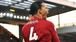 Virgil van DIjk uit Breda met Liverpool voor het eerst sinds 30 jaar kampioen.