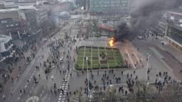 Zondagmiddag barstte het geweld los in Eindhoven centrum