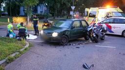 Motorrijder raakt gewond bij botsing in Oss