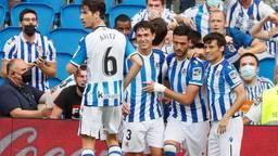Vreugde bij de spelers van Real Sociedad (Foto ANP)