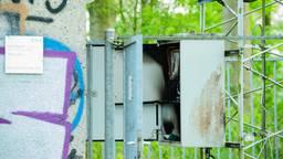Brand in gsm-mast Tilburg (Archieffoto: SQ Vision Mediaprodukties)