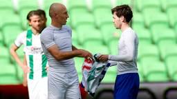 Arjen Robben en Mitchell van Bergen