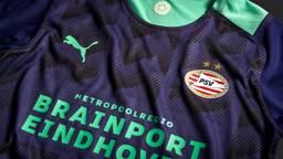 Het nieuwe uitshirt van PSV (foto: PSV).
