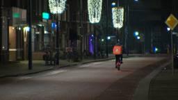 Lege straten bij start avondklok (foto: archief).