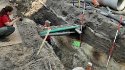 De gracht werd gevonden bij werkzaamheden aan de Grote Berg in Eindhoven (foto: gemeente Eindhoven).