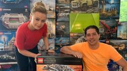 Enrico en Joyce van Gansewinkel hebben een gat in de markt ontdekt met het verhuren van lego-pakketten.